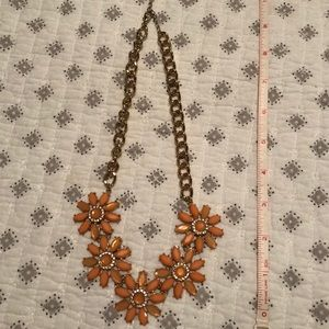 Jewelry - Orange and Gold Flower Necklace